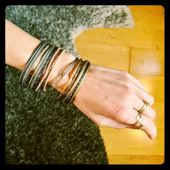 Beautiful collection of gypsy inspired bangles